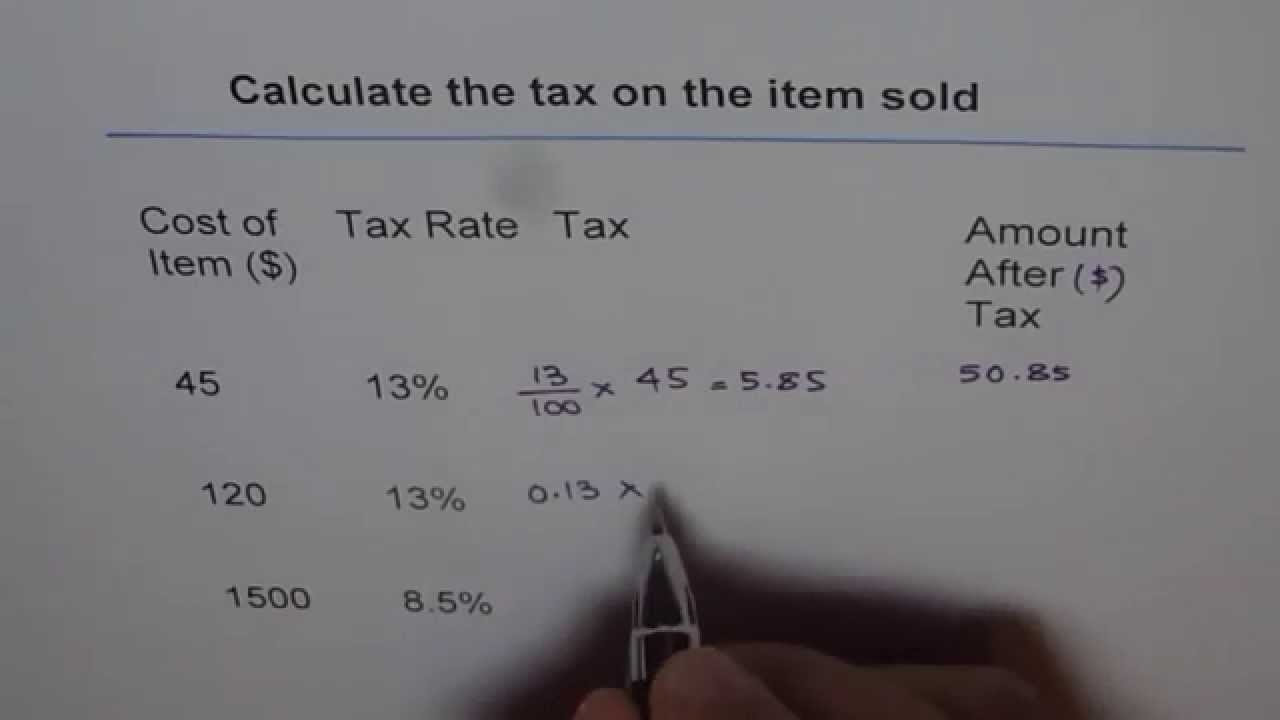 How To Figure Out Sales Tax >> Find Sales Tax And Total Amount