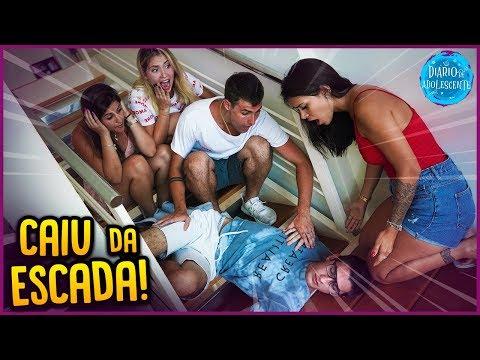 ELE CAIU DA ESCADA NA CASA NOVA!! - DIÁRIO DE ADOLESCENTE #2 [ REZENDE EVIL ]