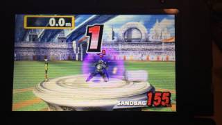 Super Smash Bros 3DS: My Home-run Contest Record (1876.6m)