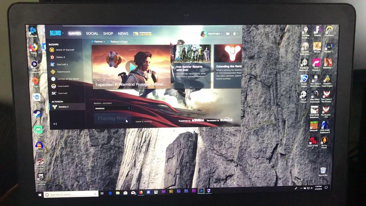 Black Screen on Start UpPost Windows 10 1803 update on Razer Blade Pro and  Destiny 2 update v1 1 4 2