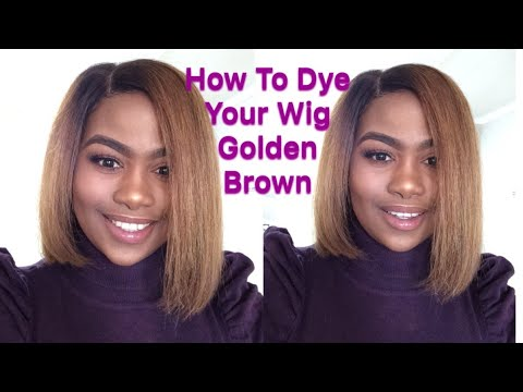 How To Dye Your Wig Golden Brown | South African YouTuber