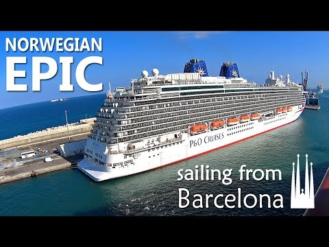 Norwegian Epic sailing from Barcelona | View from the ship | Sony camera