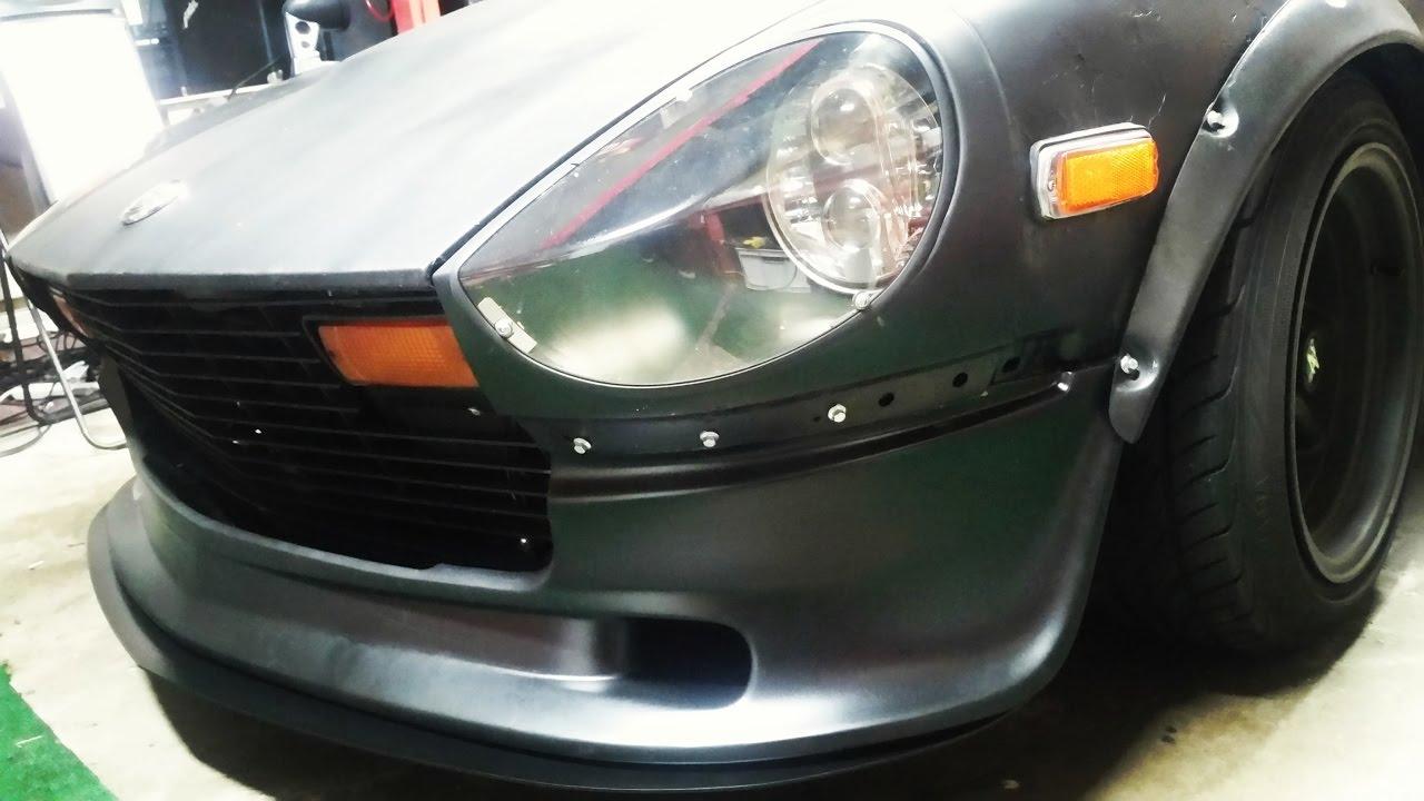 Skillard Front Splitter Install Datsun 280z Youtube