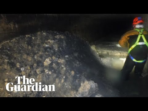 Sixty-four-metre 'fatberg' discovered in English seaside resort