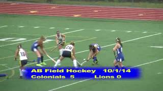 Acton Boxborough Varsity Field Hockey vs Newton South 10/1/14