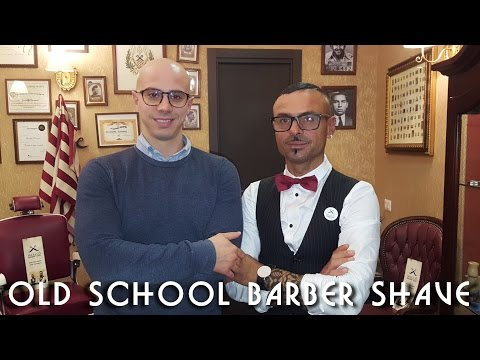 💈 Old school Barber - Complete Head and Face Shave with Massage and Hot towel - ASMR no talking