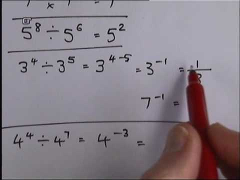 How To Work With Indices (powers).wmv
