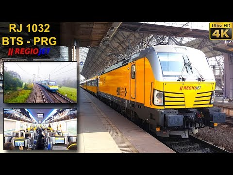 TRAIN EXPERIENCE | Bratislava - Prague | REGIOJET EuroCity Train