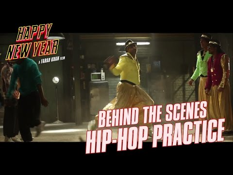 Happy New Year - Behind the Scenes   Hip-Hop Practice   Shah Rukh Khan, Deepika Padukone