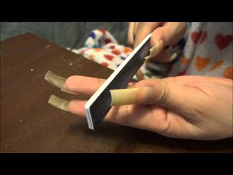 Filing My Long Natural Nails