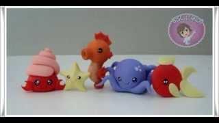 Tutorial Animais Marinhos Chibi - Siri, Estrela do Mar, Cavalo Marinho, Polvo e Peixe