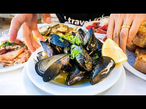Thumbnail: Greek Islands FOOD TOUR in Crete - Seafood and MOUTHWATERING Gyros in Chania!