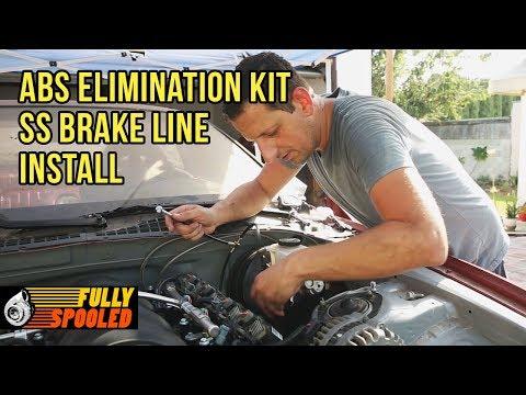 Lexus SC Drift Build. Ep.32 - ABS Elimination Kit Install - Braided SS Brake Lines