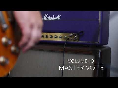 Marshall 1974 Purple Superlead Volume test with Gibson Les Paul