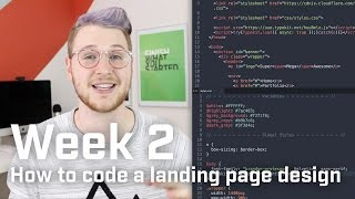 How to code an agency landing page design (Week 2 of 12)