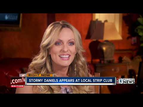 Stormy Daniels appears at Las Vegas strip...