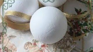 DIY - Christmas Ornament with Styrofoam Balls - Christmas 2018