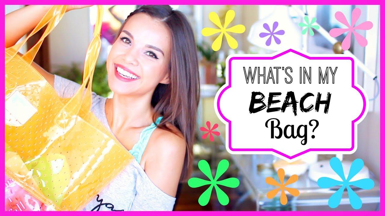 What's In My Beach/Pool Bag? ☀ 2014 - YouTube