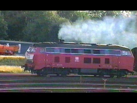 Deutsche Bundesbahn - Diesel-Power auf der Insel Sylt / BR 218 - Eisenbahn 1990