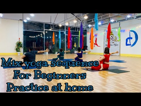 mix yoga sequence for beginners practice at home  master