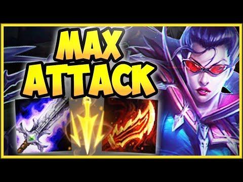 1v9 MAX ATTACK VAYNE TOP LANE IS 100% STUPID VAYNE SEASON 8 TOP GAMEPLAY - League of Legends