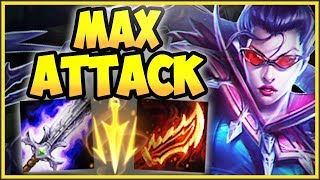 1v9 MAX ATTACK VAYNE TOP LANE IS 100% STUPID! VAYNE SEASON 8 TOP GAMEPLAY! - League of Legends