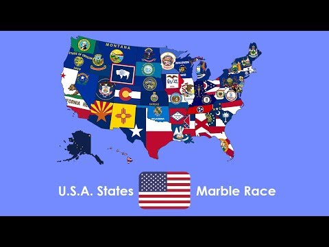 Marble Race - U.S.A. States