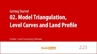 Analist 2015: Model Triangulation, Level Curves and Land Profile