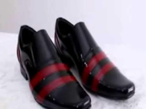 7d59e05221 Sapatos social masculino verniz com listras.Linet - YouTube