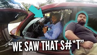 BIKER FIGHTS W CRAZY & BAD DRIVERS, FAT GUY THREATENS ME + COPS & RPSTV CHASE EXOTIC CARS