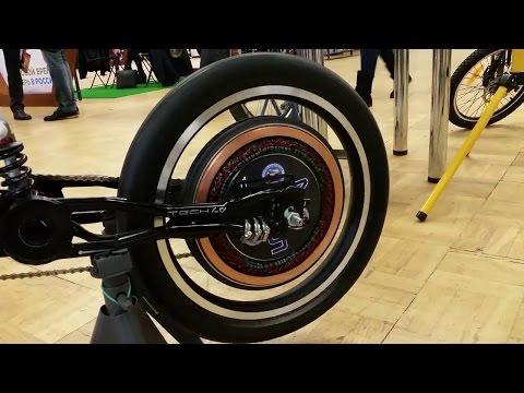 Электровелосипед - Мотор-Колесо Дуюнова уже на выставке. - YouTube