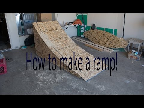 DIY how to build a wooden BMX/MTB/bike ramp
