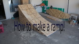 DIY how to make a wooden bike jump
