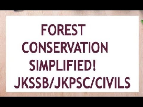Forest conservation From All NCERTs @JKSSB