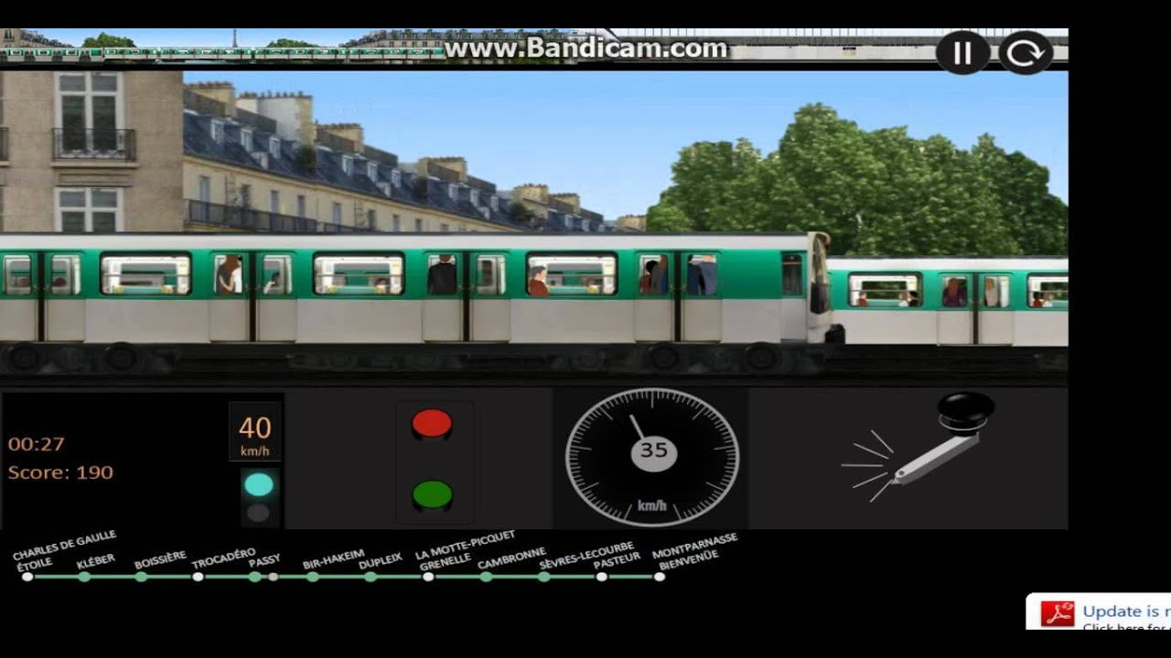 paris metro simulator line 6 1 youtube. Black Bedroom Furniture Sets. Home Design Ideas