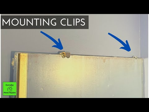 Removing A Bathroom Mirror | Mounting Clips Or Brackets