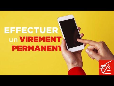 [App mobile] Comment effectuer un virement permanent ?