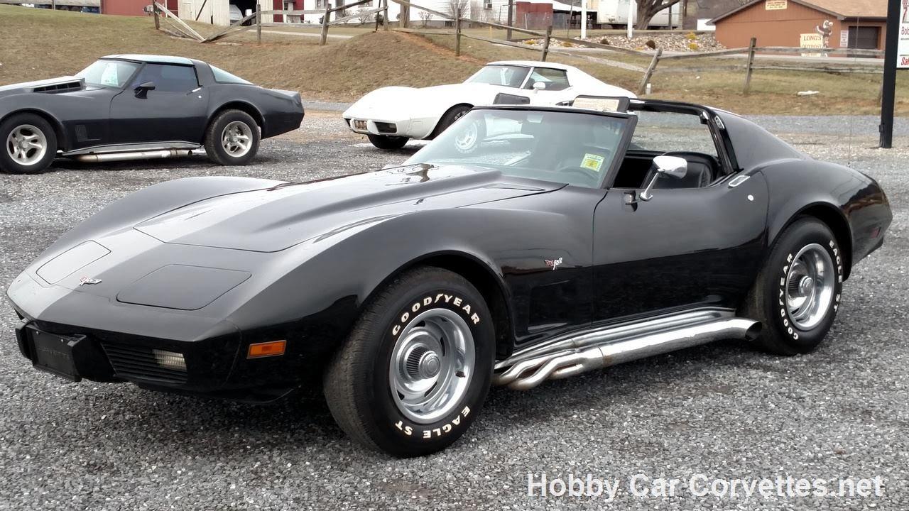 1977 Black Black Corvette 4spd For Sale
