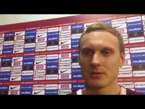 Jannis Timma on Εurohoops TV after win over Russia