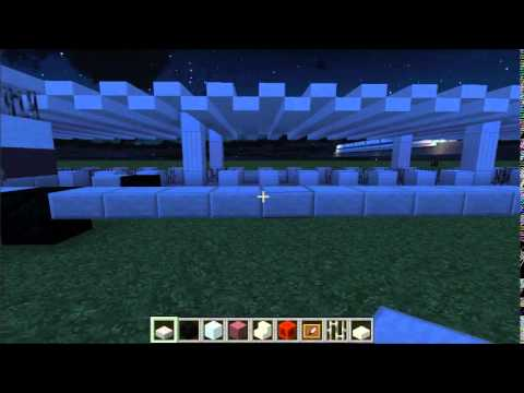 Minecraft Lets Build: Magic Kingdom 002: Tram Building !