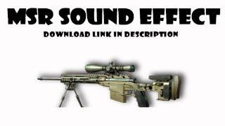 HD MW3 MSR Sound Effect Download - Bolt Action Sniper Rifle (MP3)
