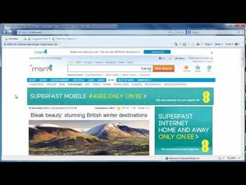 How to delete History on Internet Explorer