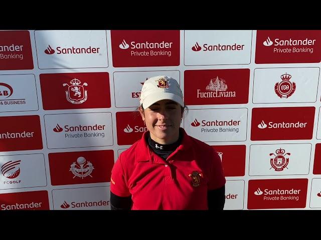 Entrevista a Ana Peláez tras la 1ª Jornada del Santander Campeonato De España de Profesionales