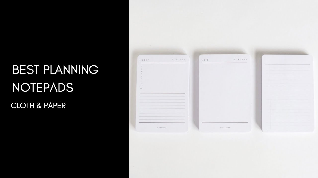 6 Notepads for Planning | Cloth & Paper