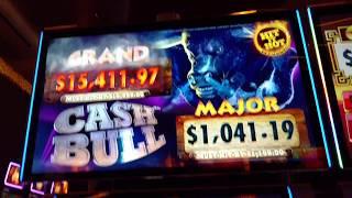 Huge win Cash Bull $10 Bet Aristocrat slot machine Free spin bonus High limit