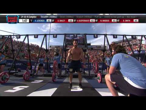 2014 Reebok CrossFit Games -  Individual 21-15-9 Complex Men Heat 3