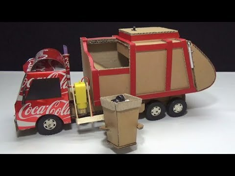 How to make RC Garbage Truck - Amazing from Coca Cola and Cardboard DIY