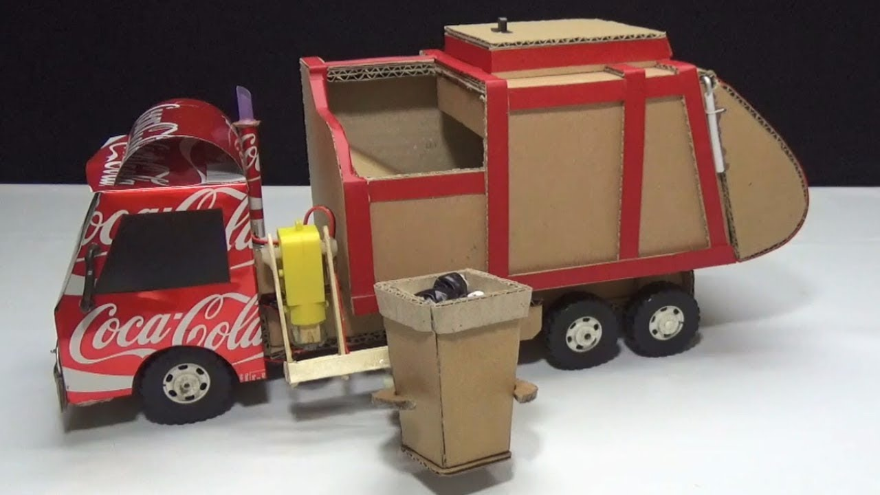 Download How to make RC Garbage Truck - Amazing from Coca Cola and Cardboard DIY