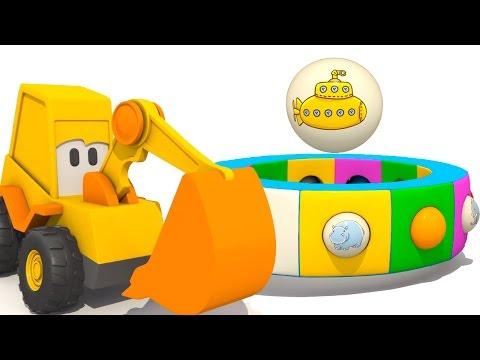МУЛЬТИКИ 3D для малышей. Экскаватор Мася, Подводная лодка и другие морские обитатели