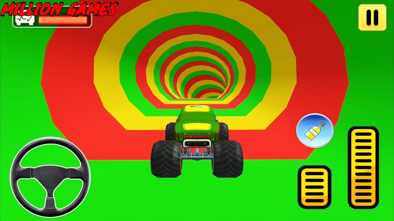 مجنون شاحنة الوحش المثيرة - ألعاب القيادة - العاب سيارات - العاب موبايل